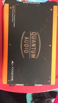 black and orange Quantum Audio power amplifier Milwaukee, 53216