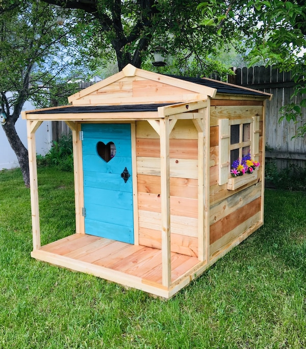 New Solid Wood Kids Playhouse