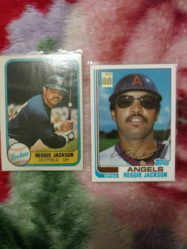 1d5064fb3bf Used 2 Reggie Jackson baseball cards for sale in San Jose - letgo