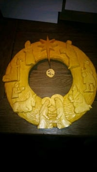 Hand carved Christmas wreath