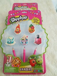 New, Shopkins Pack of 5 collectable Erasers& penci London, N6C 4W2