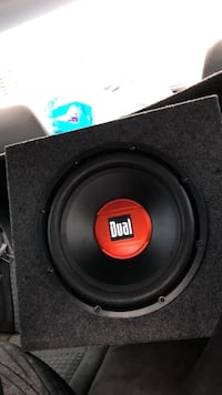 Black and orange dual subwoofer Rome, 13440