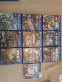 10 assorted PS4 game cases Pickering, L1V