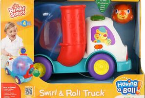Bright starts truck with balls! Interactive comes with batteries!