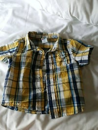 to blå og gule plaid button-up skjorter Oslo, 0001
