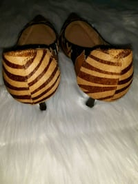 brown and black zebra print leather cowboy boots Newport News, 23601