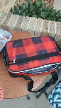 red and black plaid duffel bag Eastpointe, 48021