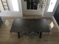 Industrial look dining table with 6 chairs includes 2 Hoh( head of house ) chairs Surrey, V4N 3W2