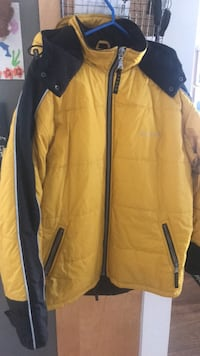 Yellow and black zip-up jacket Guess