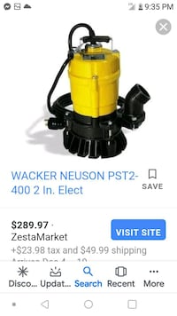 PST2400 Single-phase Submersible Sump Pump By Wacker Neuson