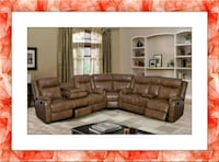 Walnut Bonded Leather Sectional New Silver Spring, 20906