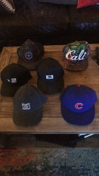 six assorted-color fitted caps 2275 mi