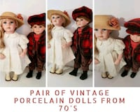 Pair of Vintage Porcelain Dolls from 70'S null, SE1 9PX