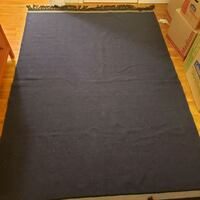 Navy blue woven rug with gray and fringe accents Fairfax, 22030