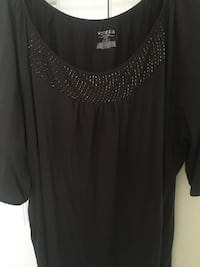 Brown scoop neck short sleeve shirt Las Vegas, 89123