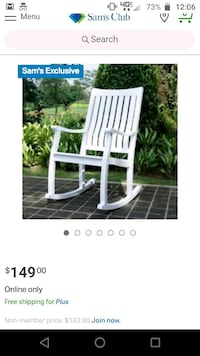 Rocking chair -brand new in box!