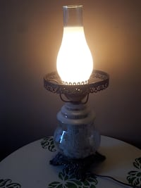 white and black antique table lamp 1300 km