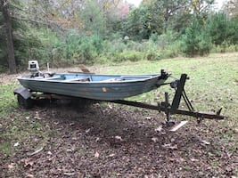 John boat with trailer