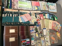 Scrapbook supplies HUGE Lot NEW 9 books 80+ new page packs accessories Los Angeles, 91342