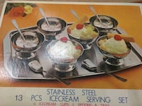 Stainless steel ice cream serving set North Brunswick Township