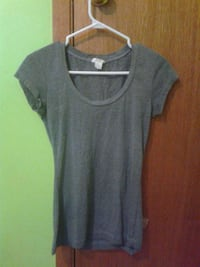 black scoop neck shirt Kingsclear, E3E