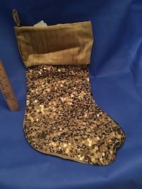 Gold glitter Christmas stocking- pier one imports  778 km