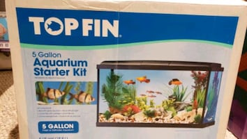 Topfin 5 gallon tank with additional heater and water treatment