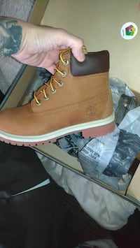 Kids size 1 Timberland boots,price is for both