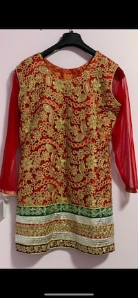 3piece new fancy designer heavy work ghrara suit in medium to large size  Mississauga, L5V 1R4