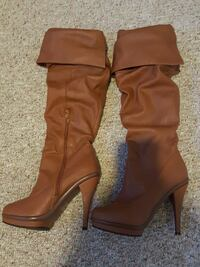 Brown Soft Leather Boots size 7.5 Syracuse, 13219