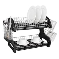 Home basics two rack dish drainer new condition gently used  Mission, V2V