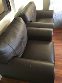 2 Brown leather chairs Toronto, M4J 3V5