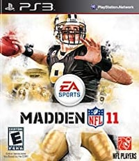 Madden 11 PS3 Game Toronto