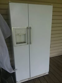 white side-by-side refrigerator with dispenser Erath, 70533