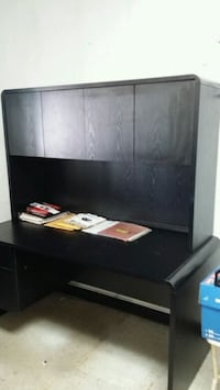 black wooden desk with shelf Whitchurch-Stouffville