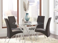 rectangular glass top table with four chairs dining set Hialeah, 33012