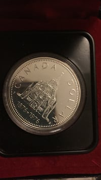 Library of parliament Canada silver coin 1876-1976 Toronto, M6A