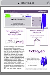Madeintyo meet and greet concert ticket! Maple Ridge, V2X 4G4