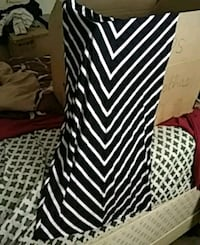 a black and white striped A line skirt Myrtle Beach, 29577