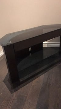 black wooden framed glass top TV stand Richmond Hill, L4E