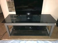 black glass top TV stand La Verne, 91750