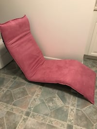 Pink suede floor lounger folds in half for easy storage Hampstead, 21074
