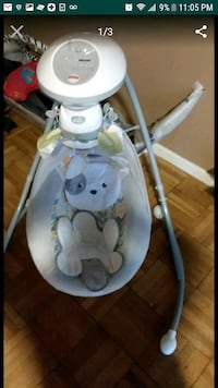 baby's white and gray cradle n swing screenshot Hyattsville, 20783