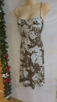 white and brown floral sleeveless dress La Puente, 91744