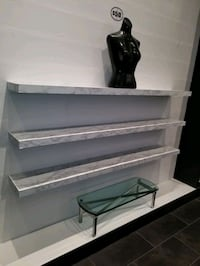 FAUX MARBLE ROSE GOLD COFFEE SHELVES Alexandria, 22309