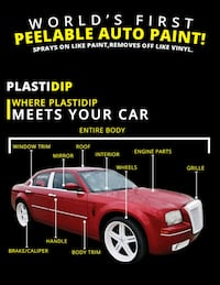 Plasti dip parts or full vehicle.