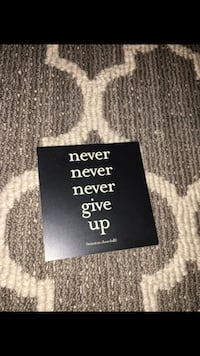 never never never give up quote canvas