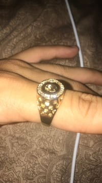 Gold plated iced out ring size 9 Toronto, M2J 3K4
