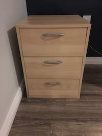 Brown wooden 2-drawer chest Barrie