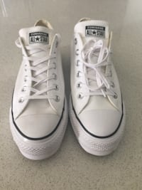 Womens white Converse size 10  New Westminster